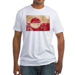 Greenland Flag Fitted T-Shirt