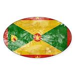 Grenada Flag Sticker (Oval)