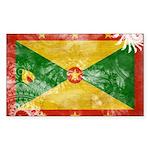 Grenada Flag Sticker (Rectangle)