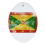 Grenada Flag Ornament (Oval)
