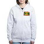 Grenada Flag Women's Zip Hoodie