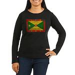Grenada Flag Women's Long Sleeve Dark T-Shirt