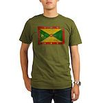 Grenada Flag Organic Men's T-Shirt (dark)