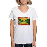 Grenada Flag Women's V-Neck T-Shirt