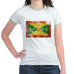 Grenada Flag Jr. Ringer T-Shirt