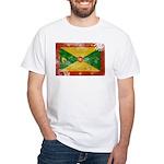 Grenada Flag White T-Shirt