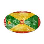 Grenada Flag 38.5 x 24.5 Oval Wall Peel