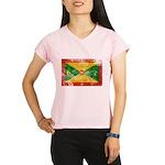 Grenada Flag Performance Dry T-Shirt