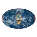 Guam Flag Sticker (Oval 10 pk)