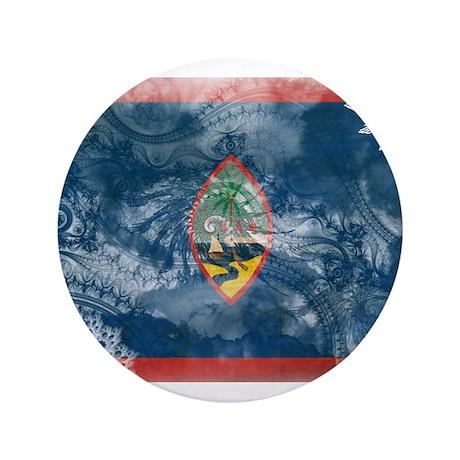 """Guam Flag 3.5"""" Button"""