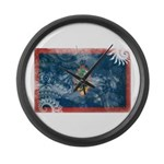 Guam Flag Large Wall Clock