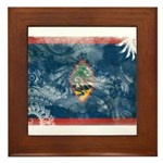 Guam Flag Framed Tile