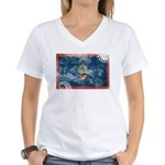 Guam Flag Women's V-Neck T-Shirt