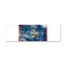 Guam Flag Car Magnet 10 x 3