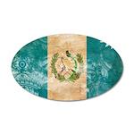Guatemala Flag 22x14 Oval Wall Peel