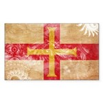 Guernsey Flag Sticker (Rectangle 10 pk)