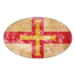 Guernsey Flag Sticker (Oval 50 pk)