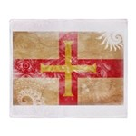 Guernsey Flag Throw Blanket