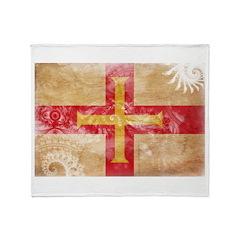 Guernsey Flag Throw Blanket