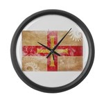 Guernsey Flag Large Wall Clock