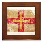 Guernsey Flag Framed Tile