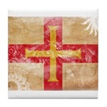 Guernsey Flag Tile Coaster