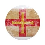 Guernsey Flag Ornament (Round)