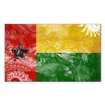 Guinea Bissau Flag Sticker (Rectangle 50 pk)
