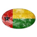 Guinea Bissau Flag Sticker (Oval 10 pk)