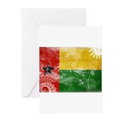 Guinea Bissau Flag Greeting Cards (Pk of 20)