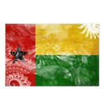 Guinea Bissau Flag Postcards (Package of 8)