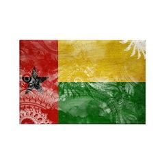 Guinea Bissau Flag Rectangle Magnet (100 pack)