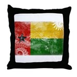 Guinea Bissau Flag Throw Pillow