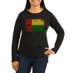 Guinea Bissau Flag Women's Long Sleeve Dark T-Shir