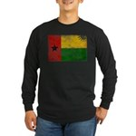 Guinea Bissau Flag Long Sleeve Dark T-Shirt