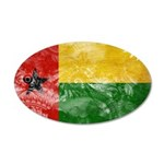 Guinea Bissau Flag 38.5 x 24.5 Oval Wall Peel