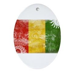 Guinea Flag Ornament (Oval)