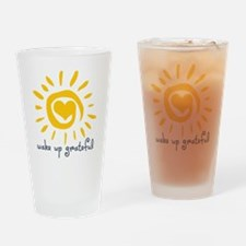 Wake Up Grateful Drinking Glass