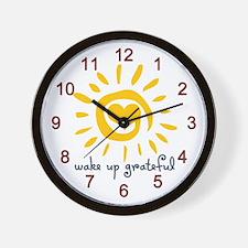 Wake Up Grateful Wall Clock
