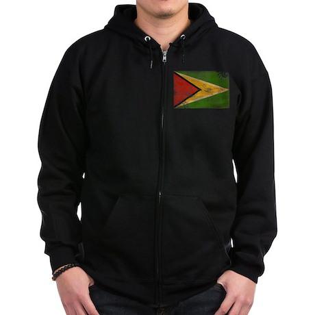 Guyana Flag Zip Hoodie (dark)