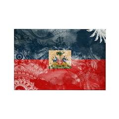Haiti Flag Rectangle Magnet (100 pack)