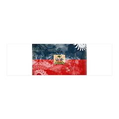 Haiti Flag 21x7 Wall Peel