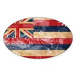 Hawaii Flag Sticker (Oval)