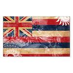 Hawaii Flag Sticker (Rectangle)