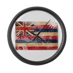 Hawaii Flag Large Wall Clock