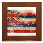 Hawaii Flag Framed Tile