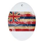Hawaii Flag Ornament (Oval)