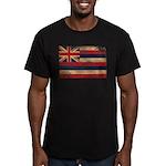 Hawaii Flag Men's Fitted T-Shirt (dark)