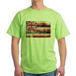 Hawaii Flag Green T-Shirt