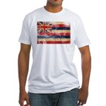 Hawaii Flag Fitted T-Shirt